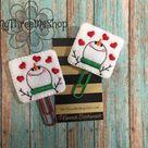 Snowman Heart Feltie, Feltie Paperclip Planner, Winter Feltie, Snowman Love Planner clip, Feltie Boo