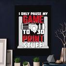 Metal Poster 3D Printing Gamer Design