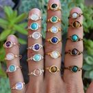 Rose quartz ring Wire wrapped gold ring Adjustable quartz ring | Etsy