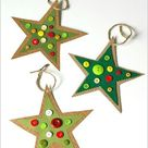 Homemade Button Star Christmas Ornament Craft for Kids