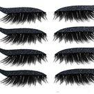 Eyeliner Sticker, 4 Paar Wiederverwendbarer Eyeliner und Wimpern Aufkleber Augen Make-up Aufkleber