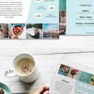Travel Blogger Media Kit Template for Influencers