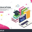 Education Isometric Vector Illustration Concept Can Stock Vector (Royalty Free) 1319820470