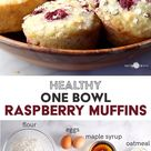 Healthy One Bowl Raspberry Muffins