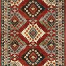 Oriental Weavers Juliette 002R3 Red/Multi Area Rug - 3'10'' X  5' 5'' Rectangle
