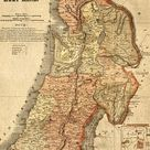 Biblical Maps of Jerusalem and Ancient Templar Map, Shows Old Sites, Two Maps Included