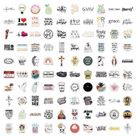 100 Pack of Christian Waterproof Stickers *** FREE SHIPPING including PR & Guam