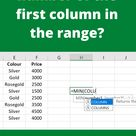 How to know the number of the first column in the range