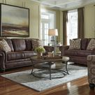 Valley 3 Seater Faux Leather Sofa with Nailhead Trim