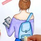 Рисунок девушка с книгами. Как нарисовать девушку