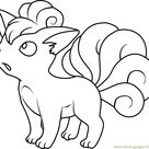 Vulpix Pokemon Coloring Page for Kids - Free Pokemon Printable Coloring Pages Online for Kids - ColoringPages101.com   Coloring Pages for Kids