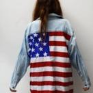 American Flag Button Down