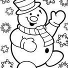 vrolijke sneeuwman - TopKleurplaat.nl