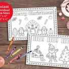 Kids Coloring Placemat  Christmas Placemat  Kids Activity | Etsy