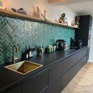 Designtegels keuken Bejmat Vert Foncee