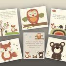 Baby Boy Nursery Art // Boy Nursery Art Decor // Carters Woodland forest animals, Set of 6 Prints // Colors Brown, green, Orange, dr suess