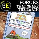 Forces That Shape the Earth Science Interactive Notebook   Distance Learning