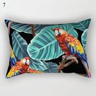 Decorative Throw Pillows Tropical plants Pillow Cover 30x50 Polyester Cushion Cover Decoration Pillowcase Cushions Home Decor - Purple / China