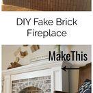 DIY Fake Brick Fireplace