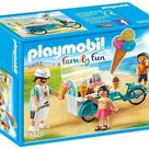 Playmobil Ice Cream Cart - Adult Figure, Two Child Figures, Ice Cream Cart, Ice Cream Flavors, Waffle Cones, Sign, Ice Cream Scoop