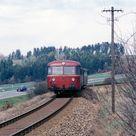 04 - Historisches Forum :: April 1988: Schienenbusse und V100 mit Umbauwagen im Odenwald (20B)