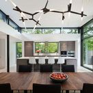 Efficient modern home for empty-nesters embraces nature in Connecticut