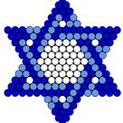 Blue Jewish Star Of David Kandi Pattern