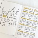 23 Bullet Journal Year At A Glance Ideas You'll Love
