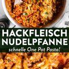 Cremige One Pot Pasta mit Hackfleisch und Paprika [Rezept mit Schritt für Schritt Video]