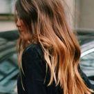 bushy hair