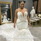 Mermaid Swarovski Plus Size Wedding Gown