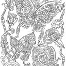 Steampunk Butterflies  Printable Adult Coloring Page from   Etsy