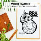 Star Wars BB8 Printable Mood Tracker Disney Space Galaxy | Etsy