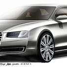 2014 Audi A8 Facelift teased with design sketches   Cars UK
