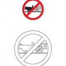 Bullock cart prrohibited traffic sign coloring page | Download Free Bullock cart prrohibited traffic sign coloring page for kids