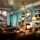 Turquoise Living Rooms