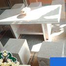 Furniture Meja Dan Kursi, Meja Dan Kursi Batu Alam