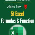Become a Master in Excel   51 Excel Formulas & Function
