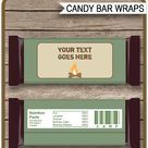 Camping Hershey Candy Bar Wrappers template
