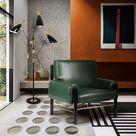 Dean Armchair - Green Leather