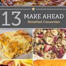 Make Ahead Breakfast Casseroles