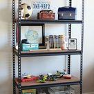 industrial shelf for boys' room