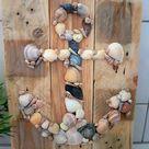Muschel Anker Bild Holz Badezimmer Deko