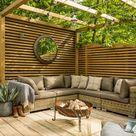 Gemütliche Lounge | Terrasse gestalten Inspiration | Garten Design