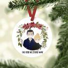 Mask Ornament, Illustration Mask, Ornament 2020, Mask 2020 Ornament, Portrait Ornament, Custom Ornament, Custom Christmas Ornament, Keepsake