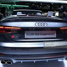 Audi S5 Cabriolet is displayed during the Brussels Motor Show 2017 at...