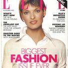 Elle UK Nov 1993  British Original Vintage Fashion Magazine Gift Birthday Present Linda Evangelista  cover