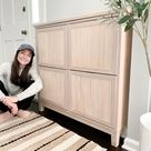 Fluted IKEA STALL Shoe Cabinet Hack - Champagne Chaos
