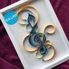 Music Note Treble Clef Wall Decor Quilling Art  3d Paper Home   Etsy