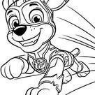 Kids-n-Fun | Kleurplaat Paw Patrol Mighty Pups Paw Patrol Mighty Pups Chase